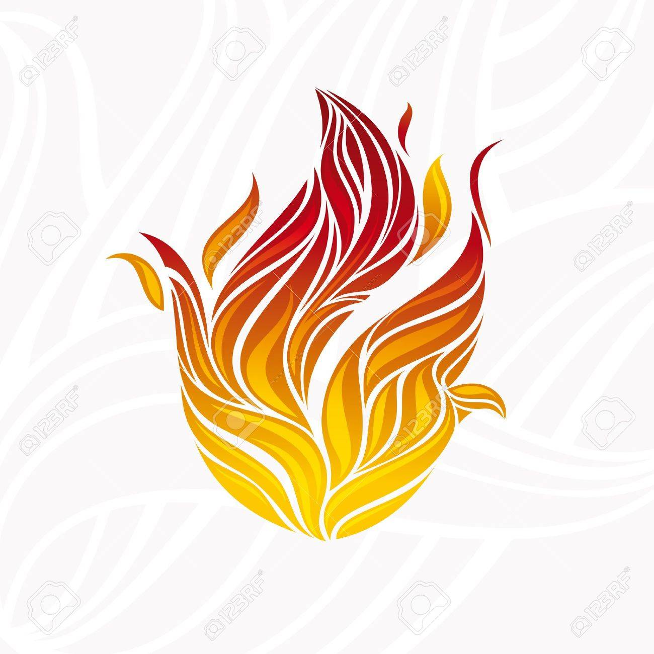 abstract artistic fire flame card illustration Stock Vector - 10045863