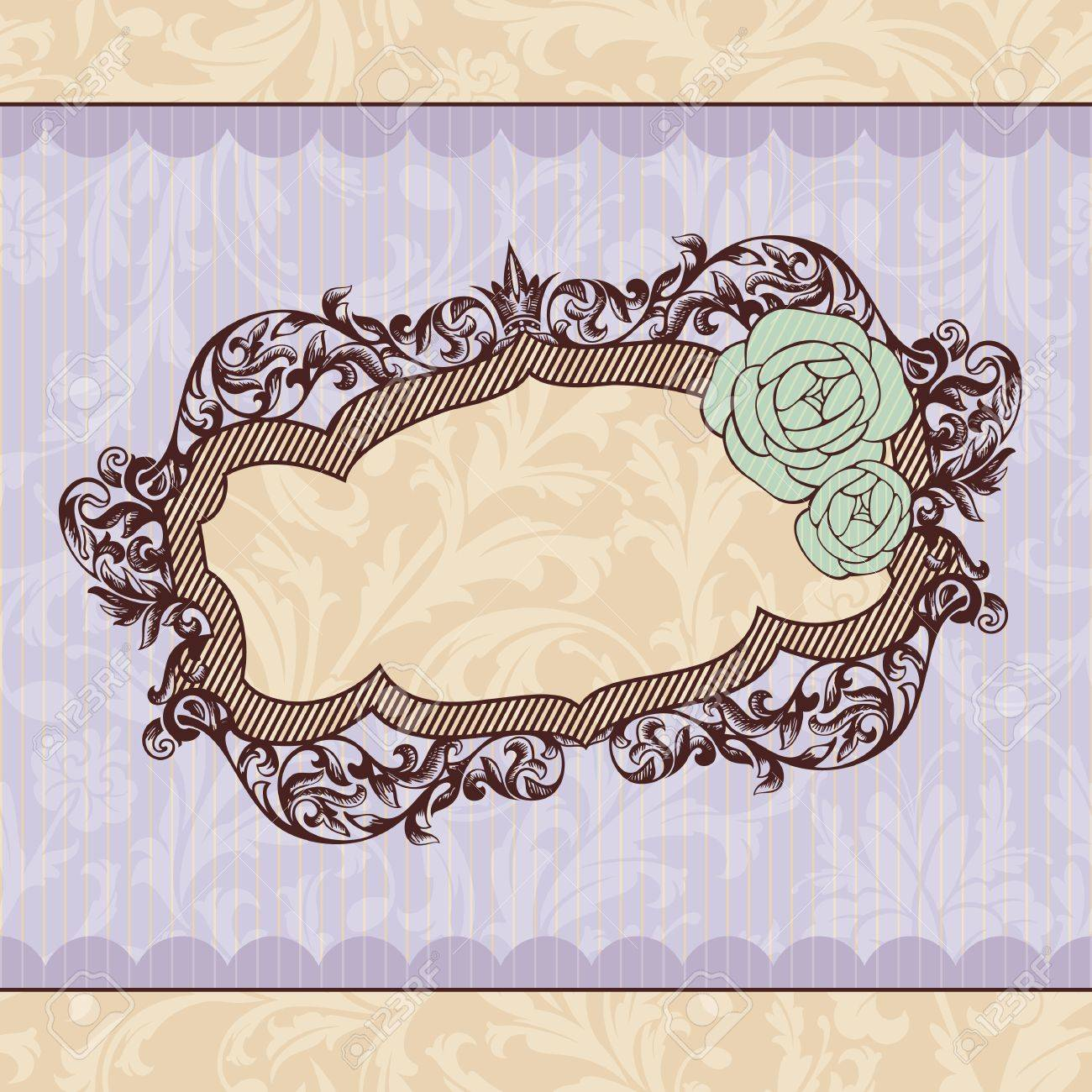abstract royal ornate vintage frame vector illustration Stock Vector - 10533924