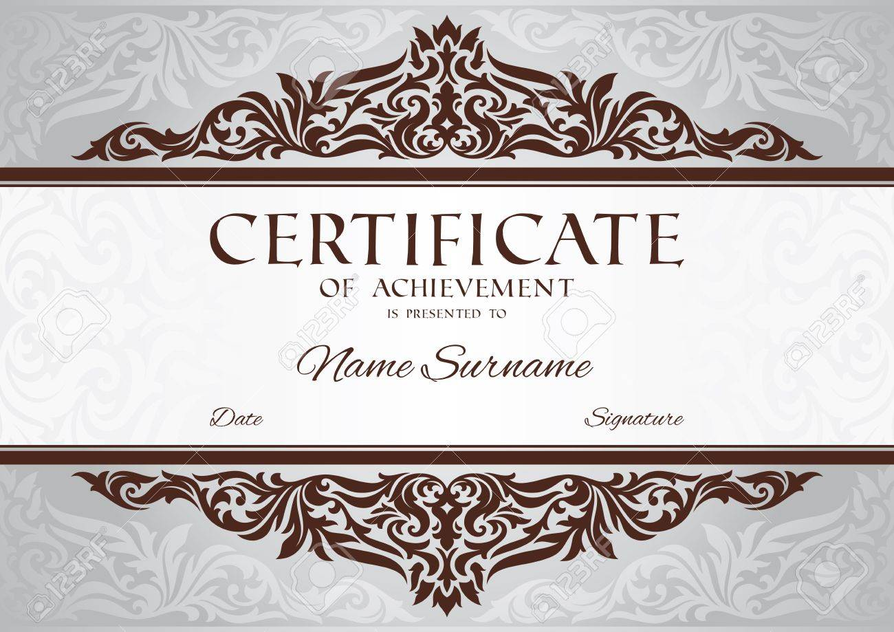 Abstract Floral Certificate Of Achievement Vector Illustration – Free Certificate of Achievement