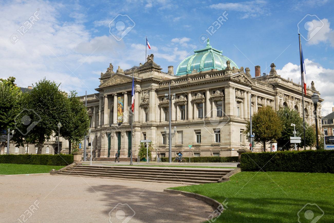la biblioteca nacional y la universidad de estrasburgo francia es una biblioteca pblica est situado