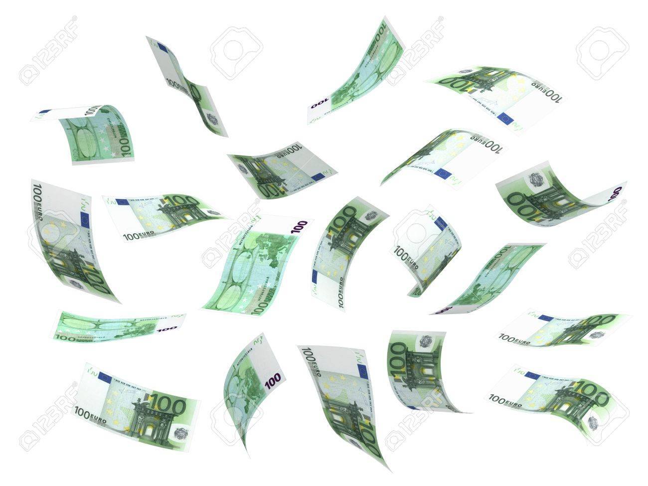 Flying Money (isolated with clipping path) Stock Photo - 14376869