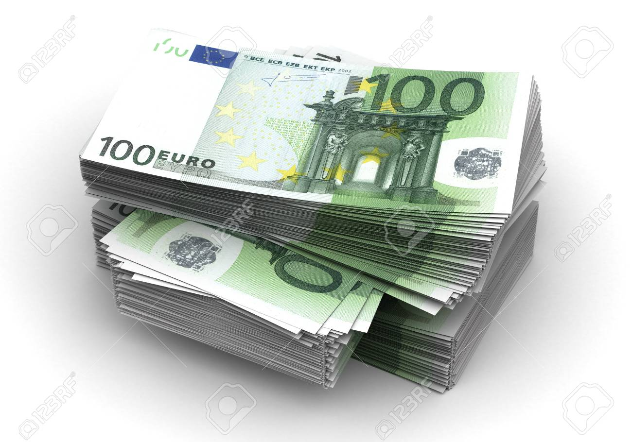 Stack of Euro Stock Photo - 14377132