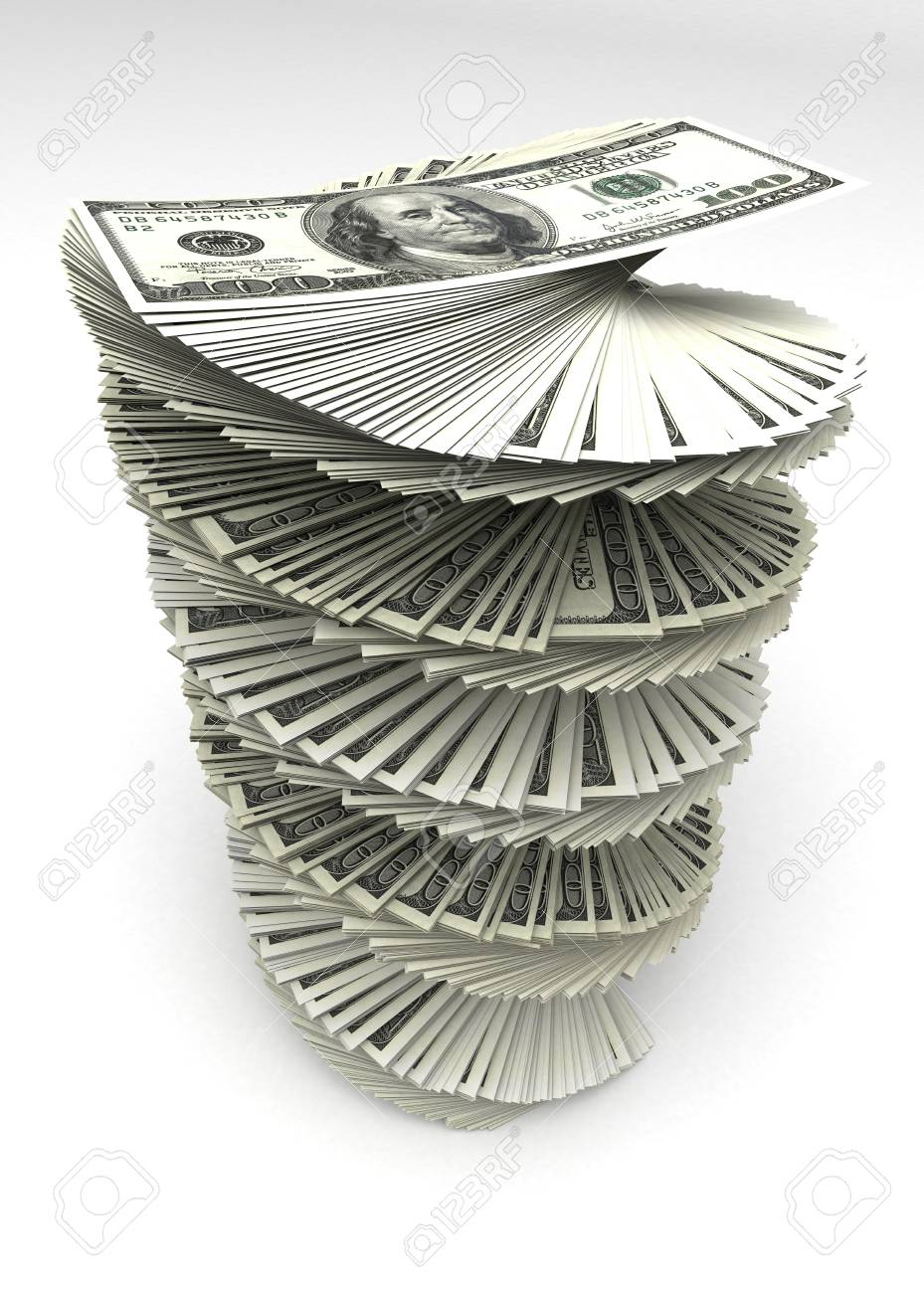 Swirled Dollars Stock Photo - 14376975