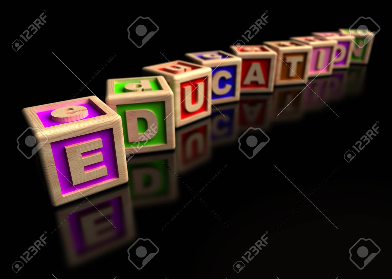 Learning with toy blocks Stock Photo - 14552435