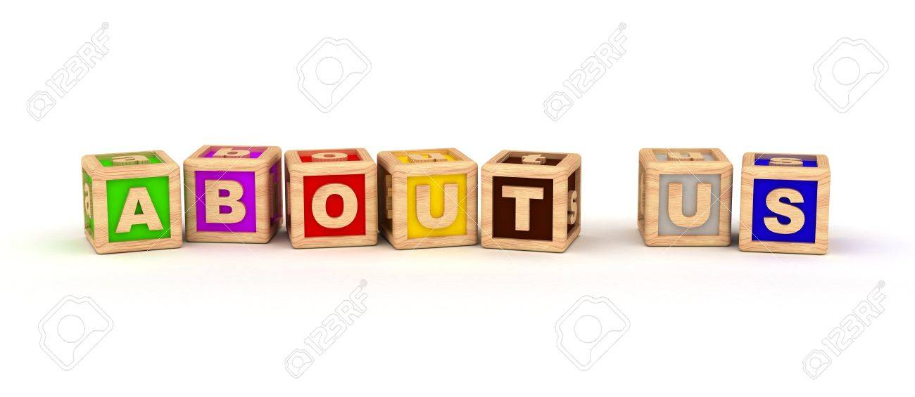 About Us text on cubes  computer generated images Stock Photo - 16028058