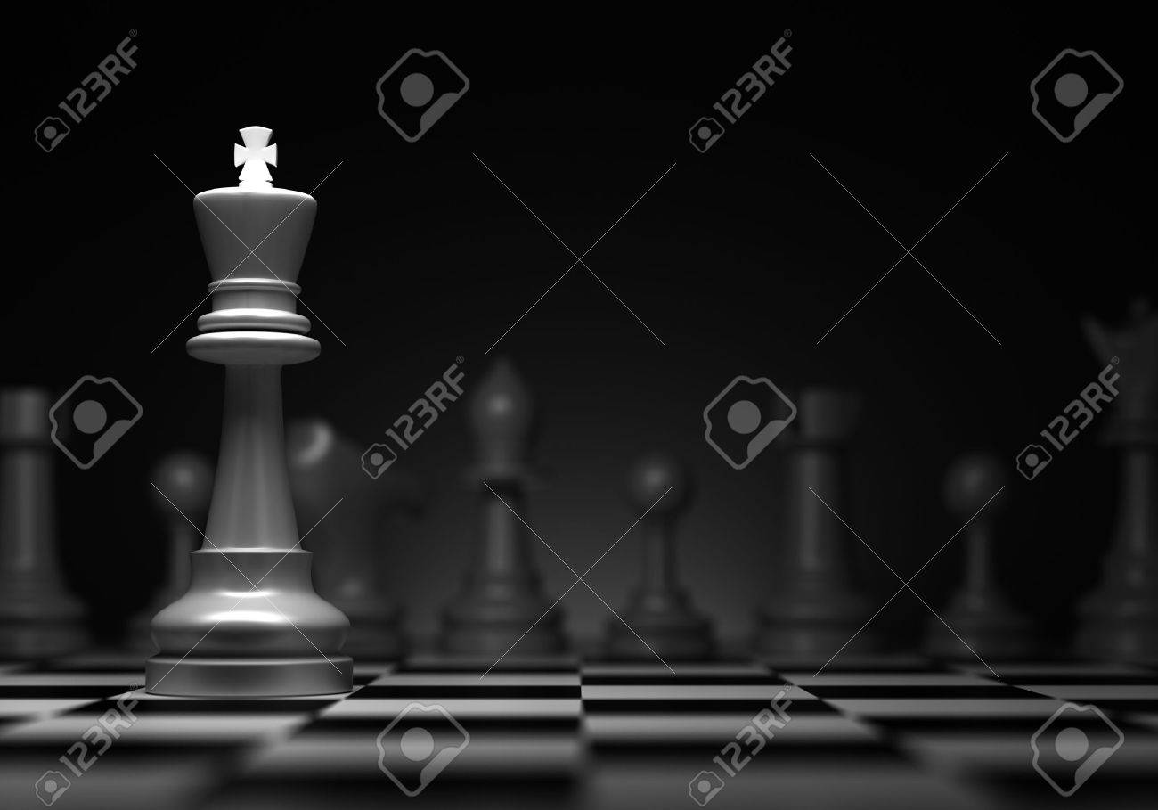 Chess concept with king  Computer generated image Stock Photo - 16134826