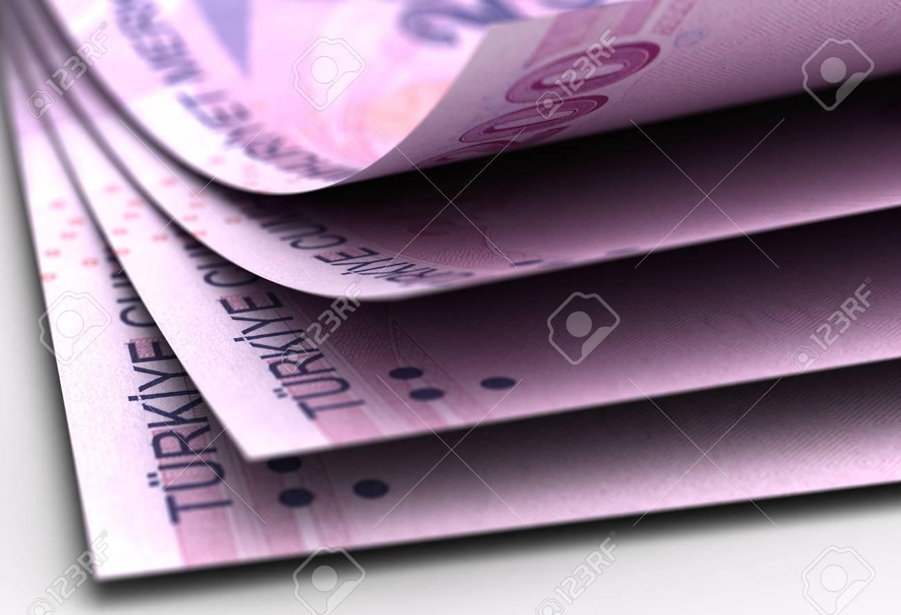 Turkish Lira Close-Up  High Resulotion computer generated image Stock Photo - 16134877