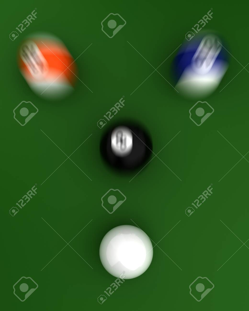Shot to Billiard Balls  Computer generated image Stock Photo - 16239720