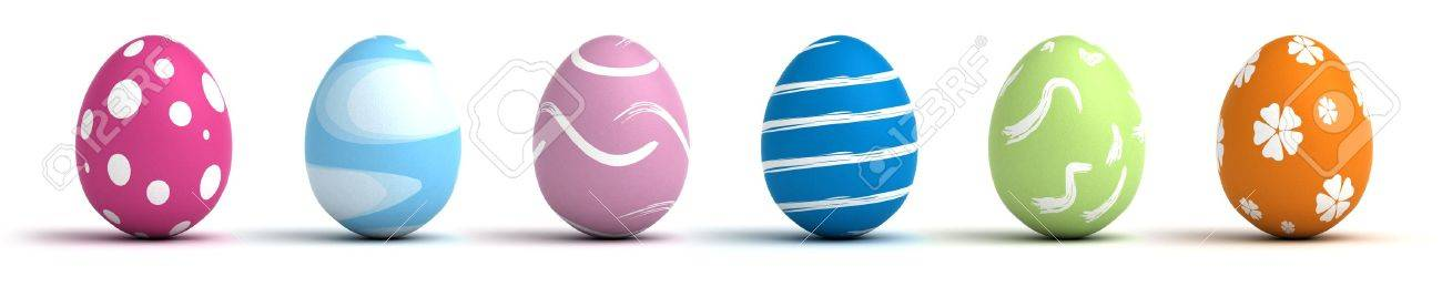 Multi color painted easter eggs  computer generated image Stock Photo - 16239723