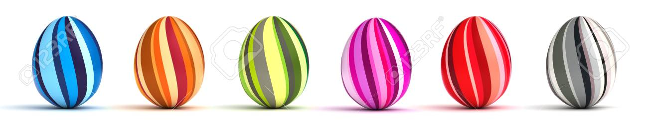 Multi color painted easter eggs  computer generated image Stock Photo - 16239748