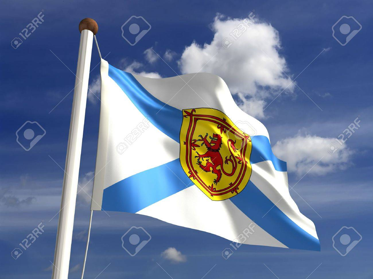 Nova Scotia flag Canada  isolated with clipping path Stock Photo - 16430972