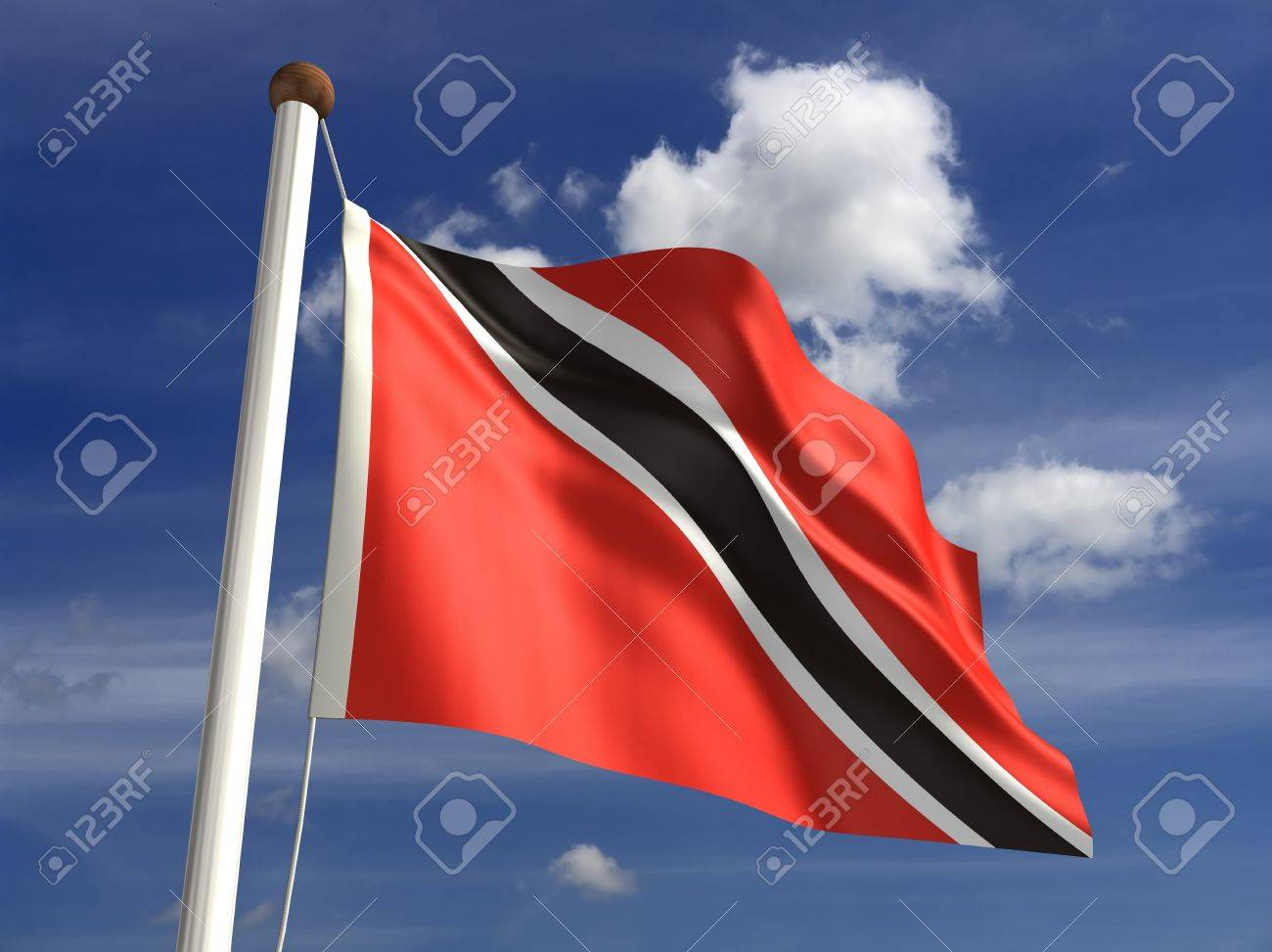Trinidad and Tobago flag  with clipping path Stock Photo - 16431109