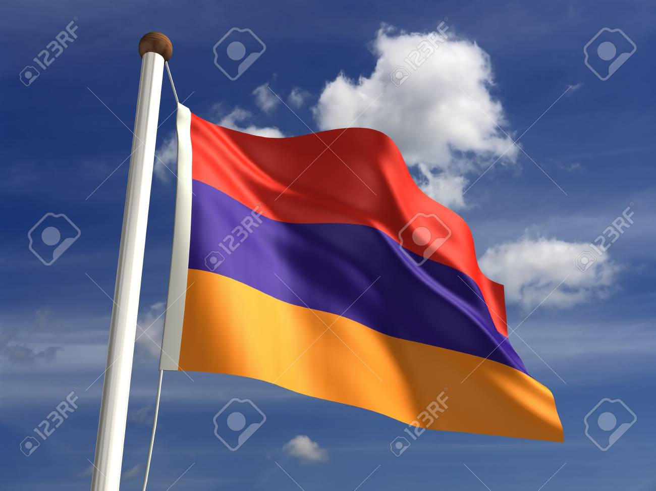 Armenia flag  with clipping path Stock Photo - 16771372