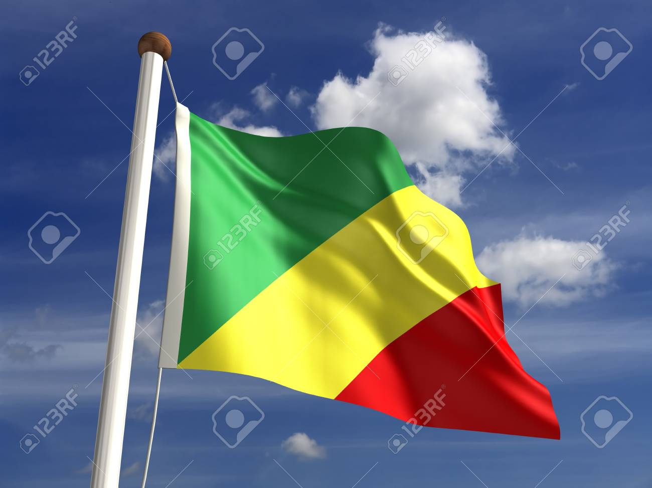 Congo flag  with clipping path Stock Photo - 16771371