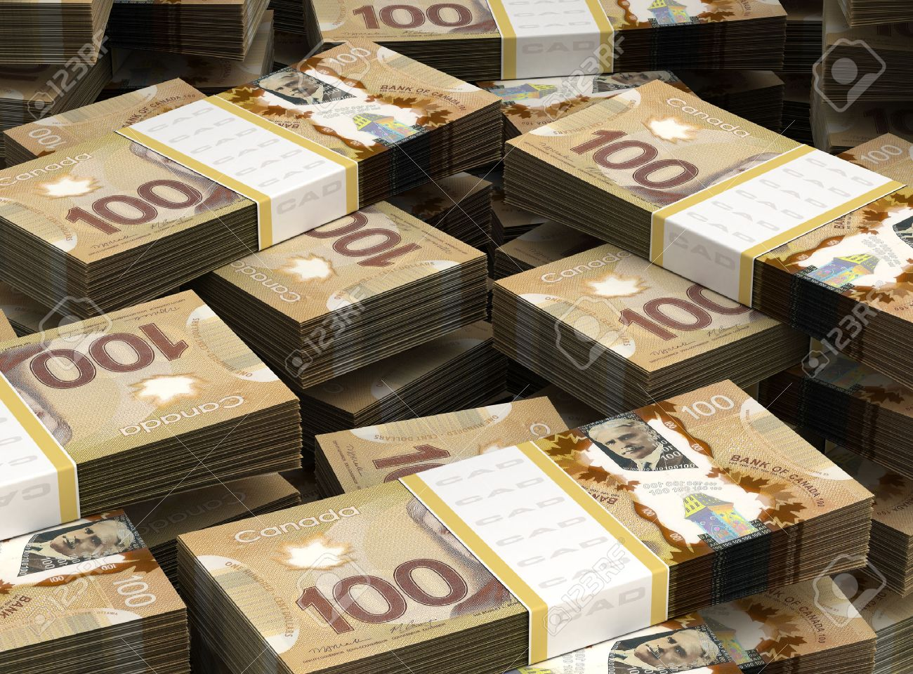 Stack of Canadian Dollar - 23411190