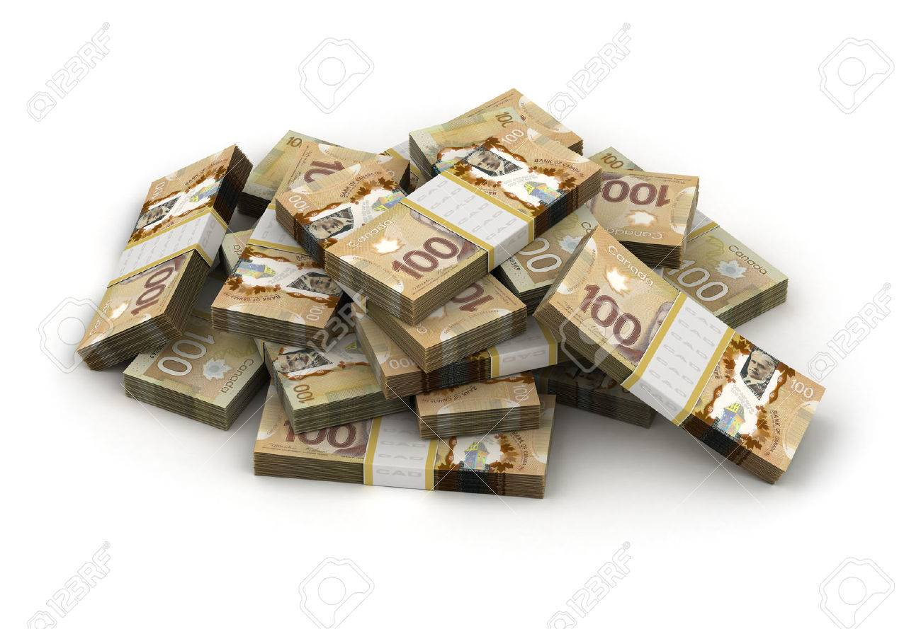 Stack of Canadian Dollar - 23411195