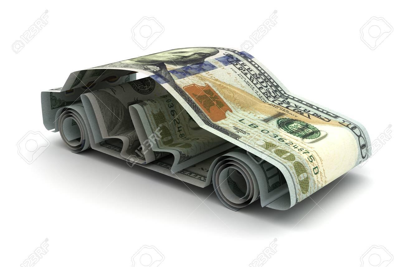 Dollar and Car - 47380851