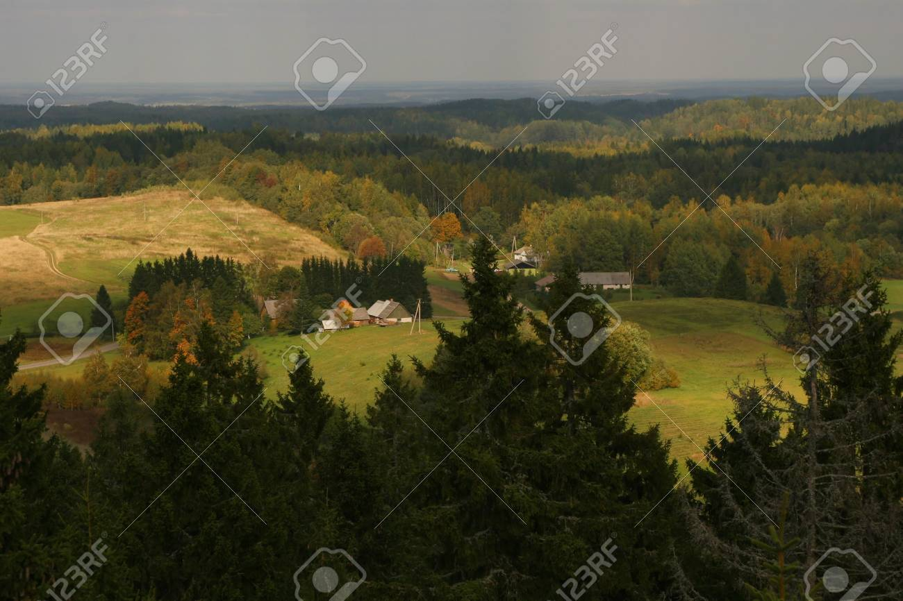 Big view over country, Estonia, Suur-Munamagi Stock Photo - 4036336