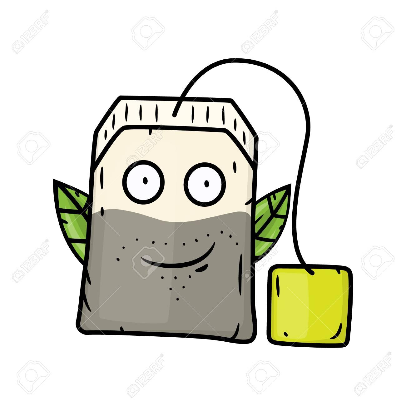 Cartoon Tea Bag Vector Cartoon Comic Characters Royalty Free Cliparts Vectors And Stock Illustration Image 100986087