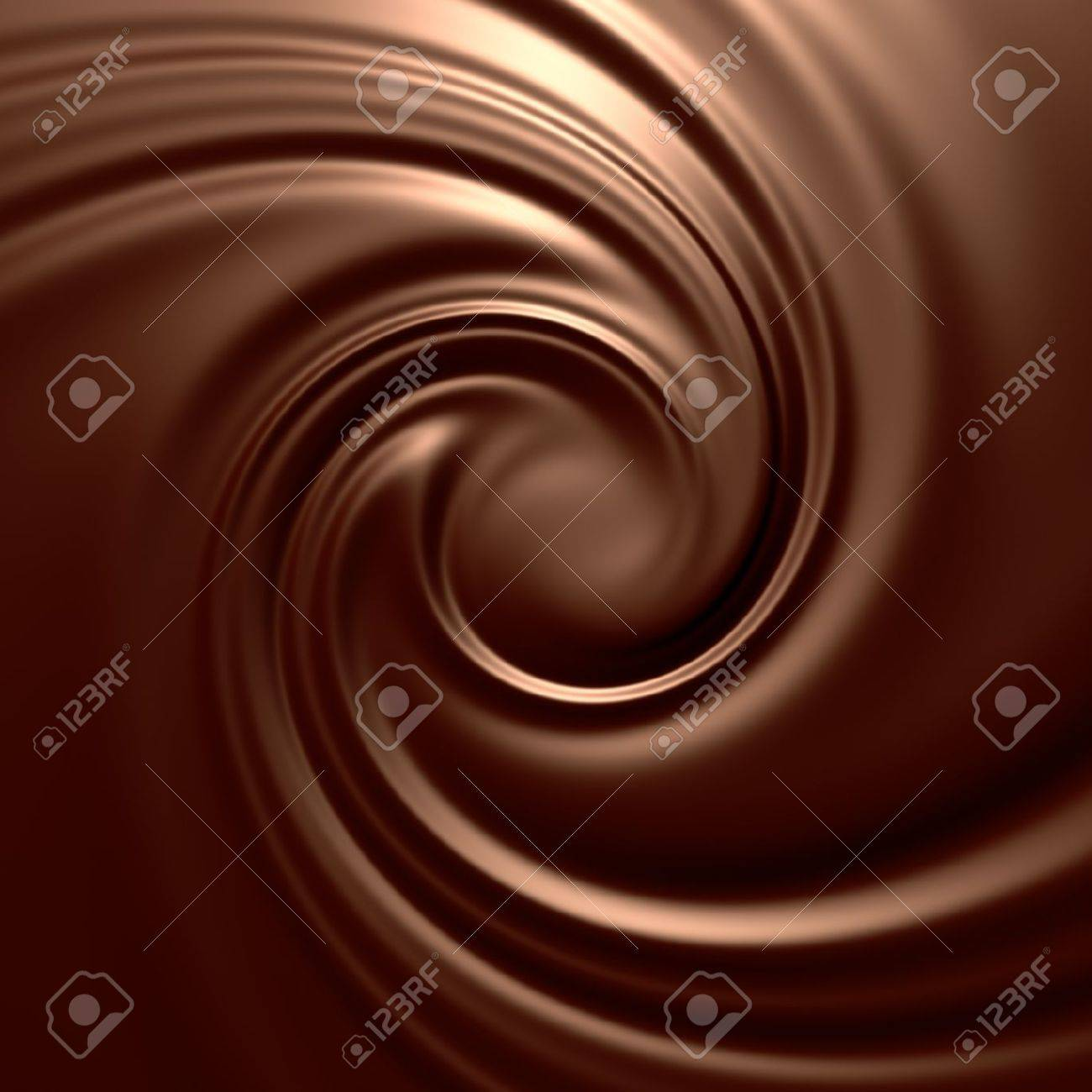 Astonishing chocolate swirl. Clean, detailed render. Backgrounds series. Stock Photo - 9056609