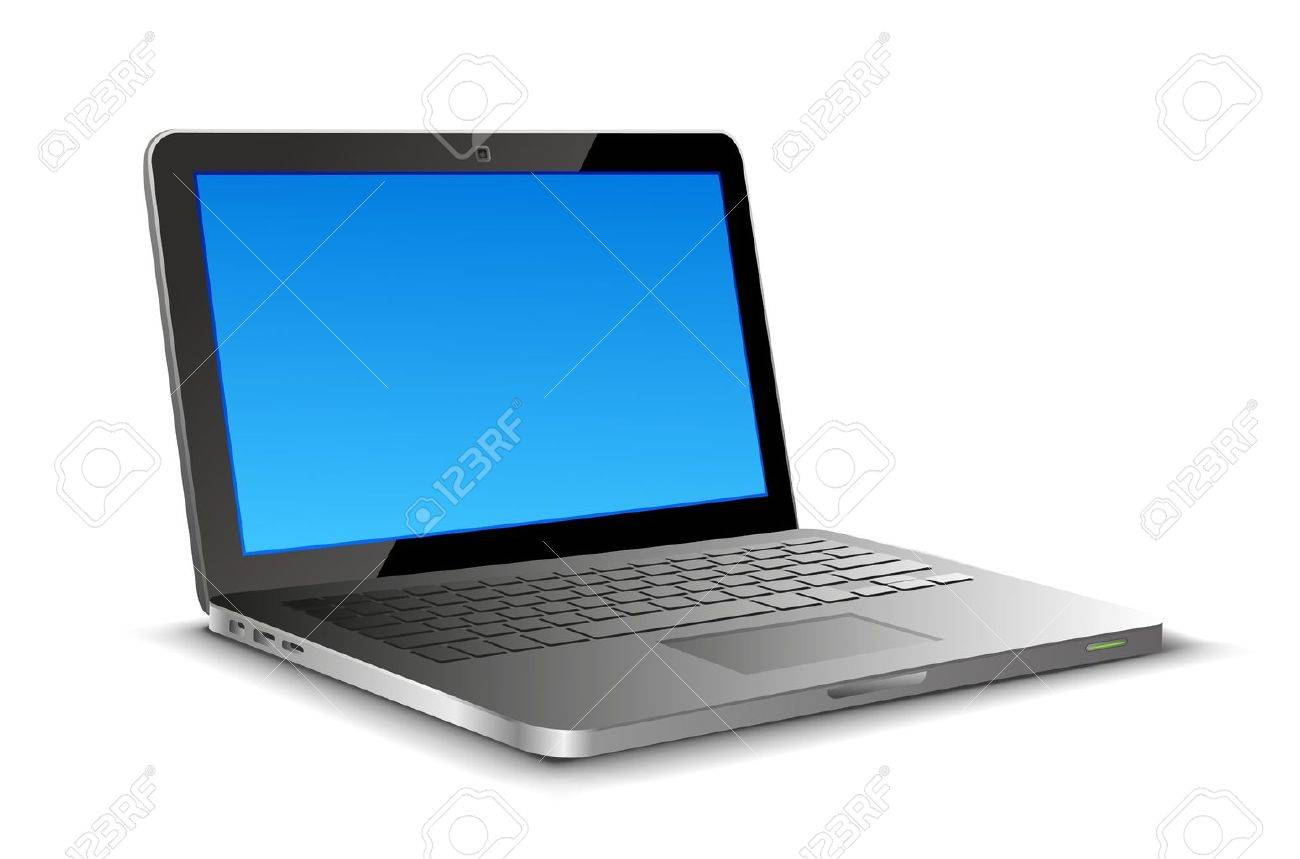 Laptop on white background with copyspase - 11262766