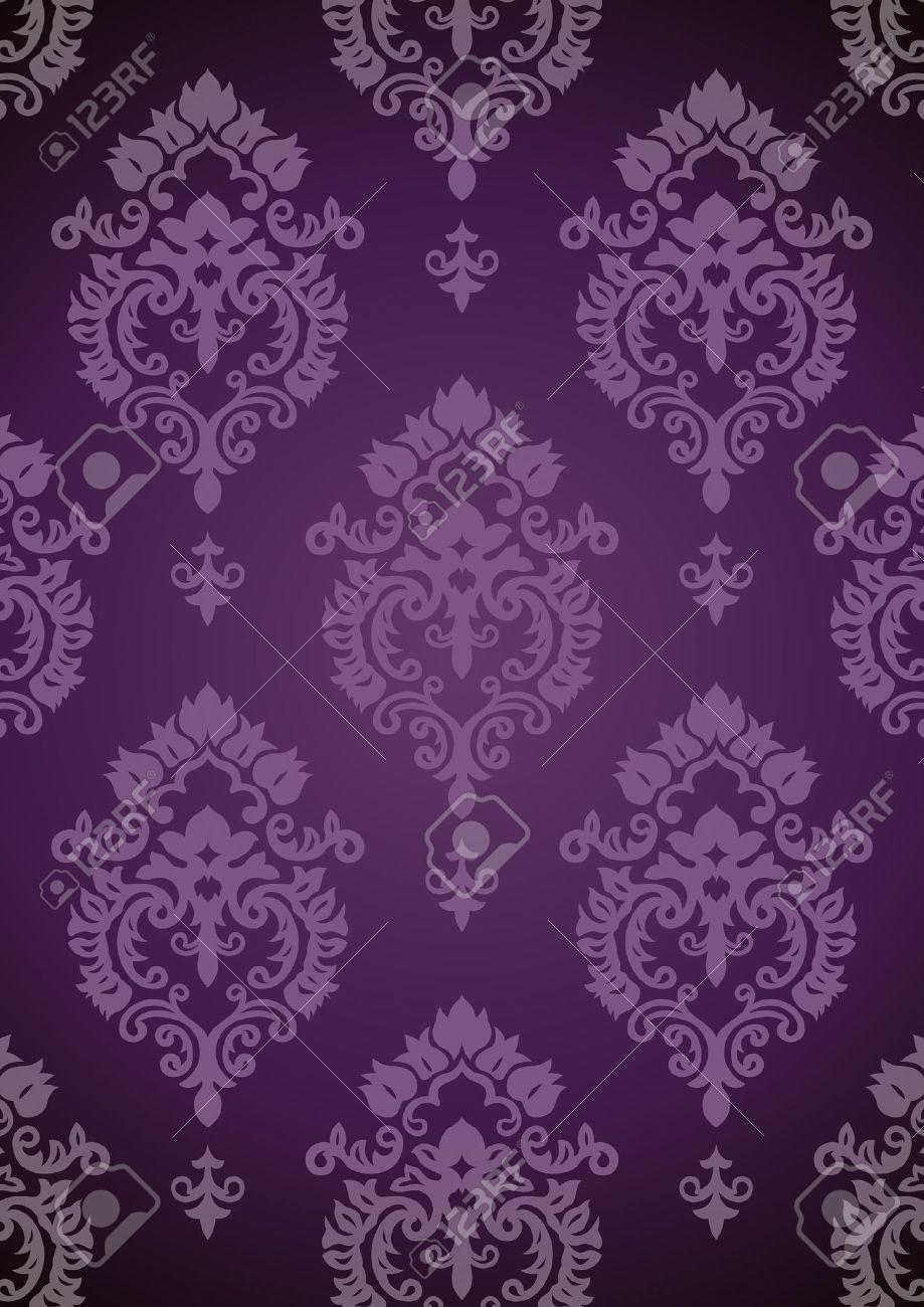 Vintage Background Purple Pattern Vector Stock