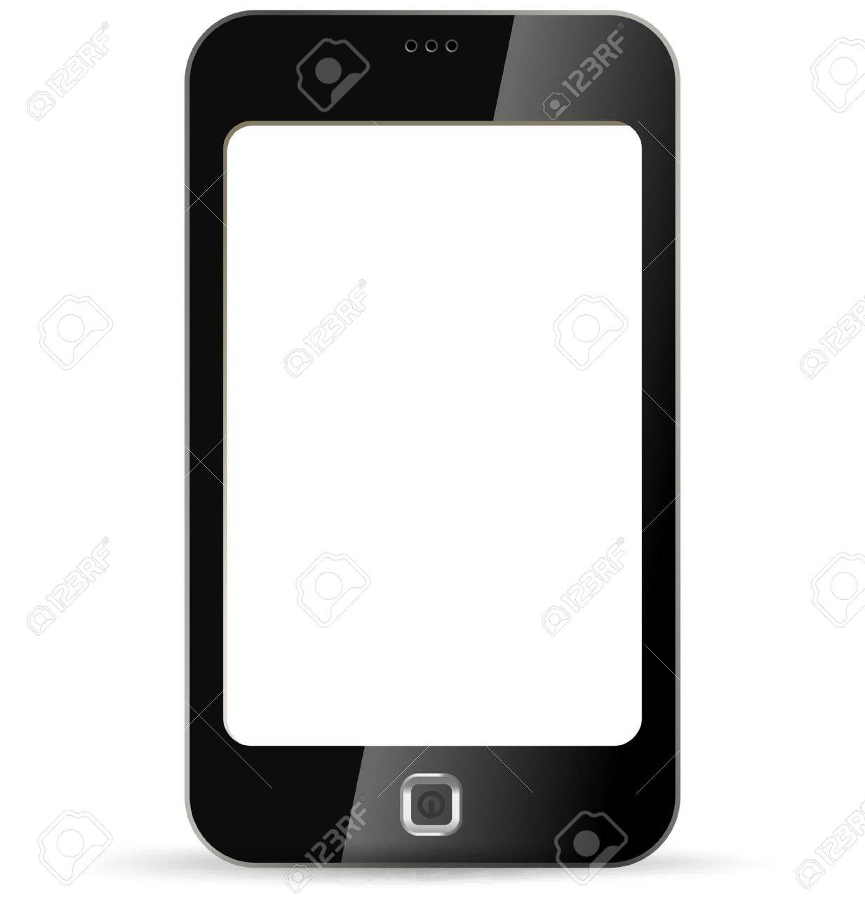 Smartphone on white background. Isolated PDA.  Application Copyspace. Vector. Editable. Stock Vector - 14095941