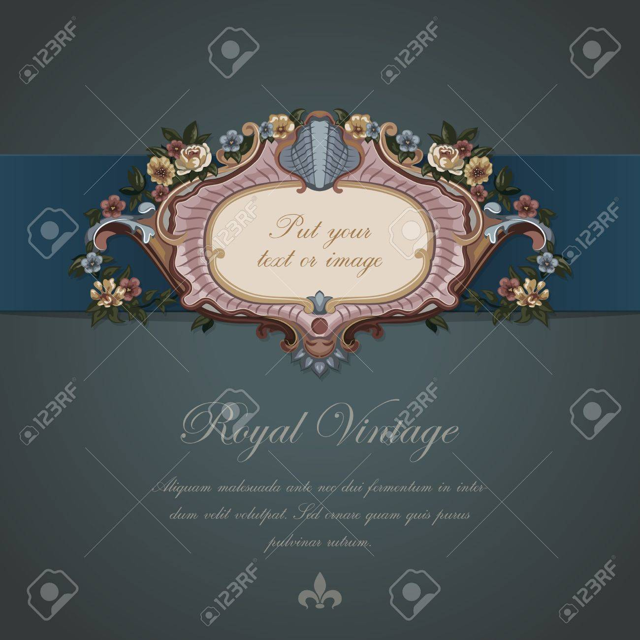 Greeting Vintage card  Luxury design template Stock Vector - 17204922