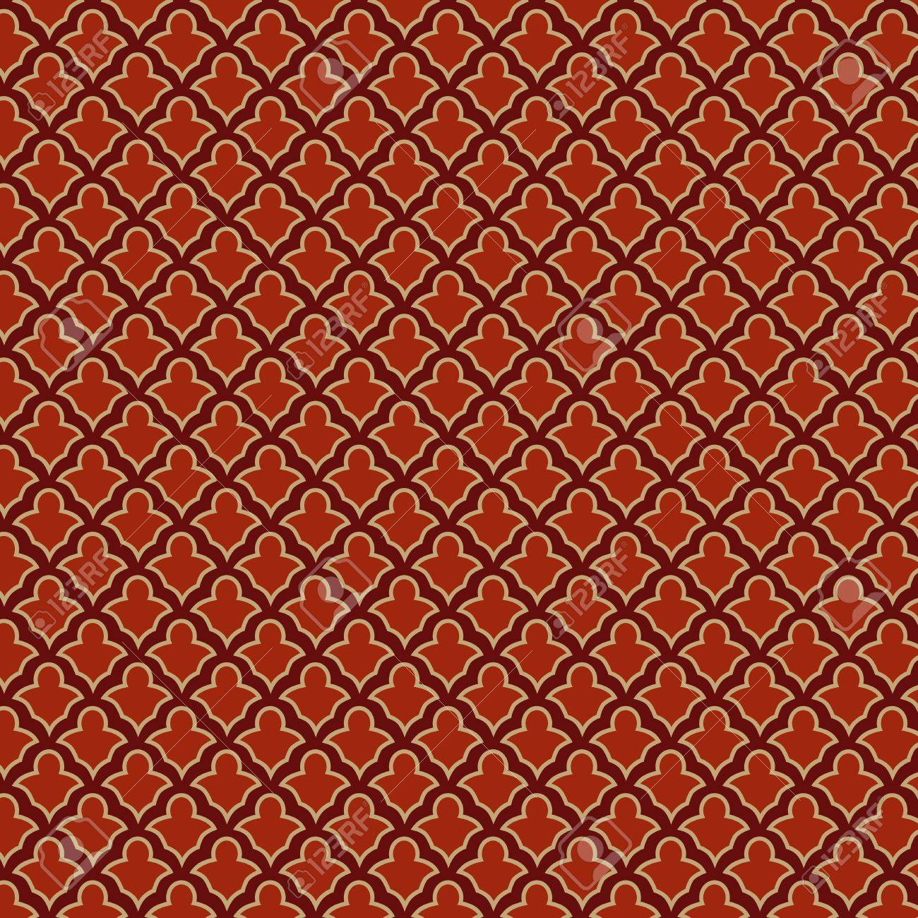 Vintage Retro seamless pattern  Red background abstract  Vector Stock Vector - 17336783