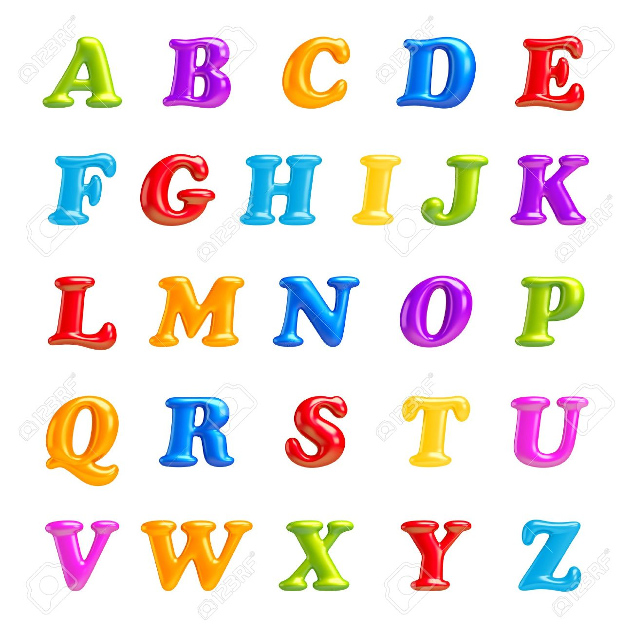 3d font creative abc collection isolated alphabet type letters with numbers and symbols high quality clean