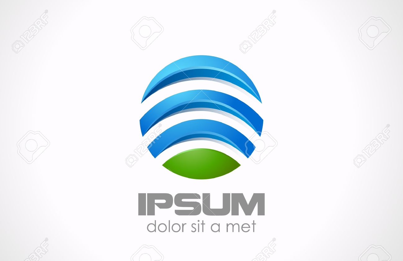 Logo Circle abstract  Global, media, technology icon Stock Vector - 18856538