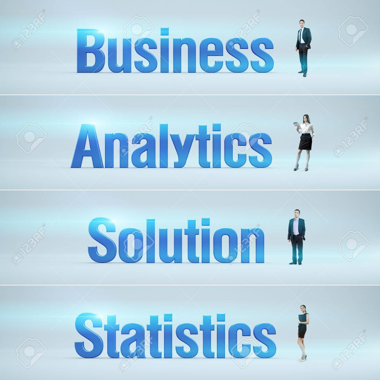 Business Analytic Banners Next Generation Banners