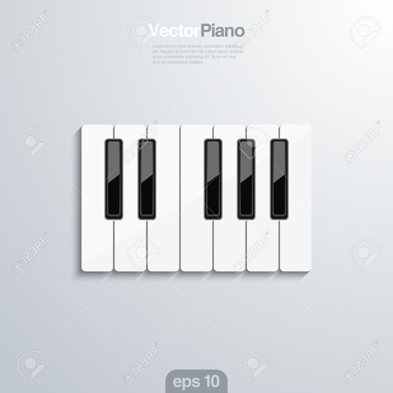 Piano Teclas 3D Illlustraion. Concepto De Diseño Elegante De La ...