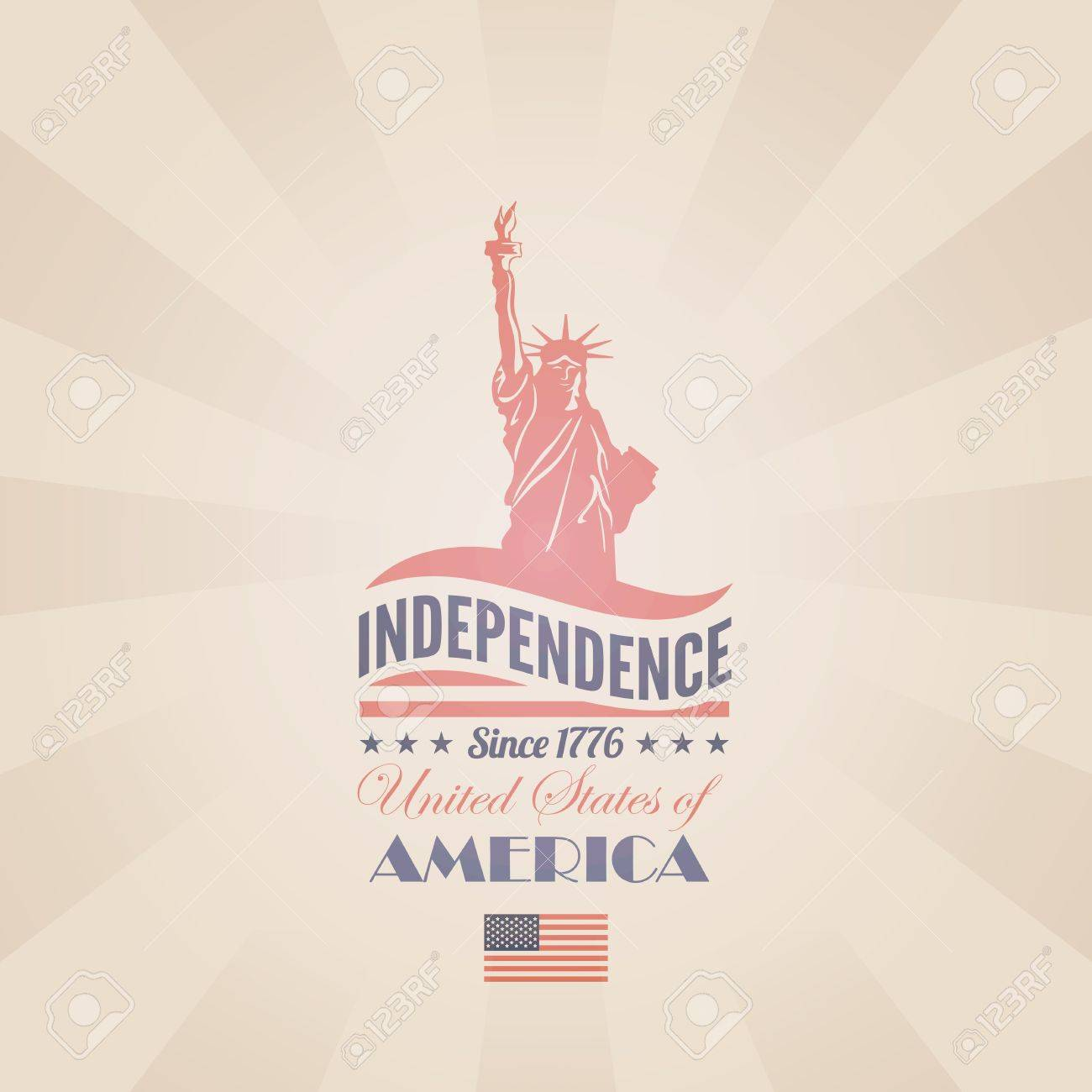 84b88a40e7b220 USA Independence day poster retro design template 4th of July celebration  American National holiday Concept Editable