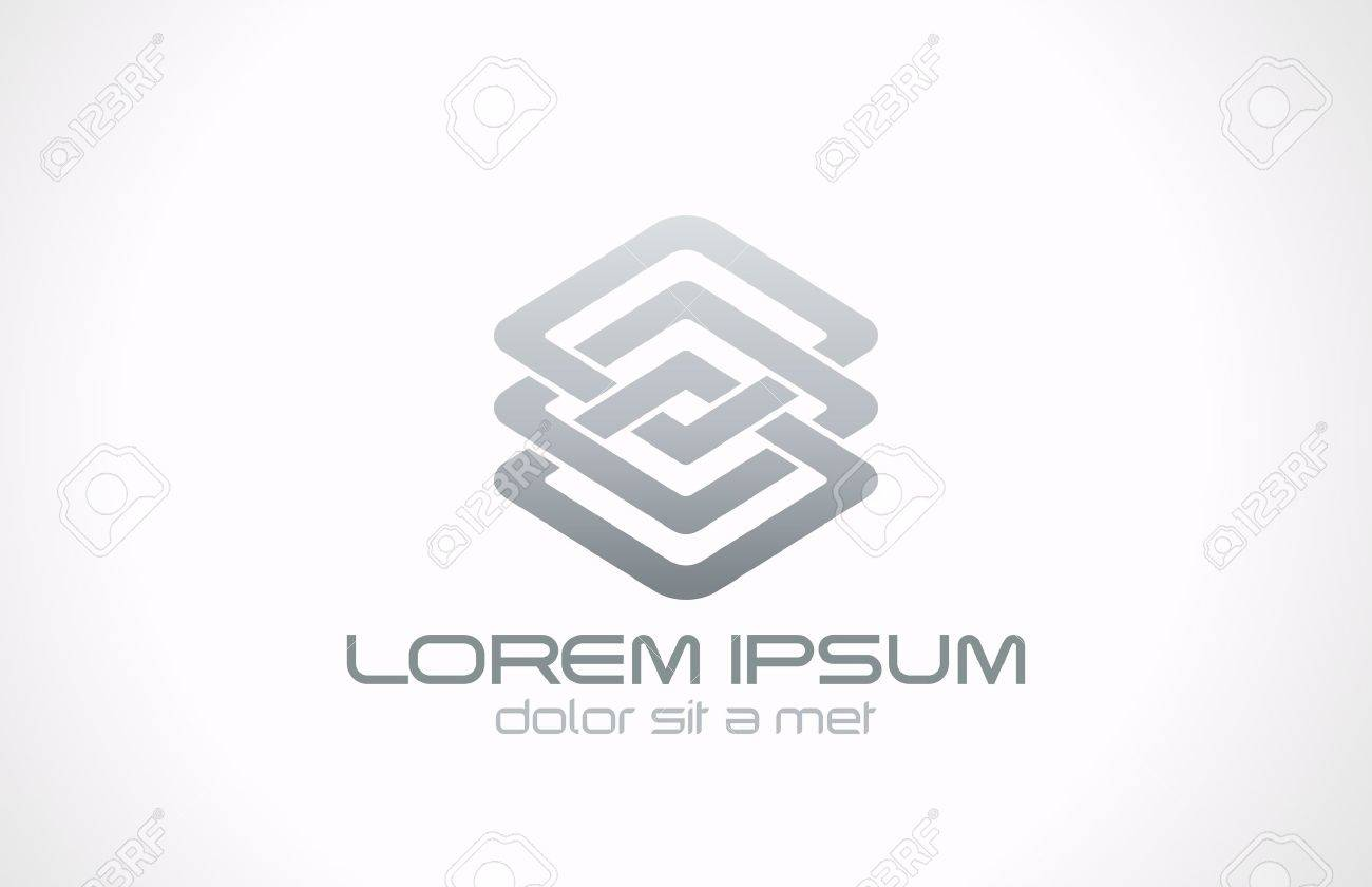 Vector graphic design business logo - Abstract Looped Metal Business Logo Vector Design Template Business Technology Loop Concept Infinite Shape Icon Stock