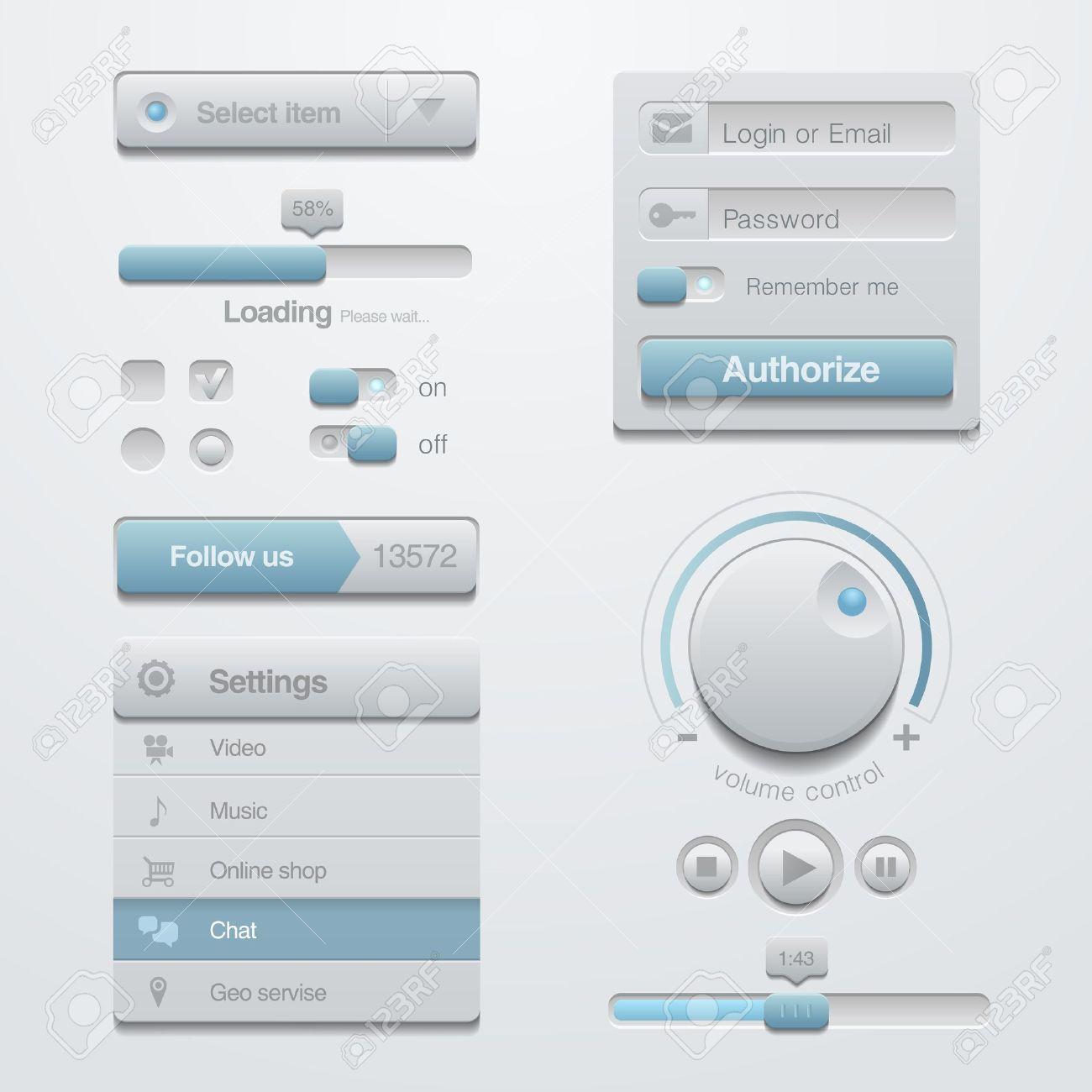 user interface template