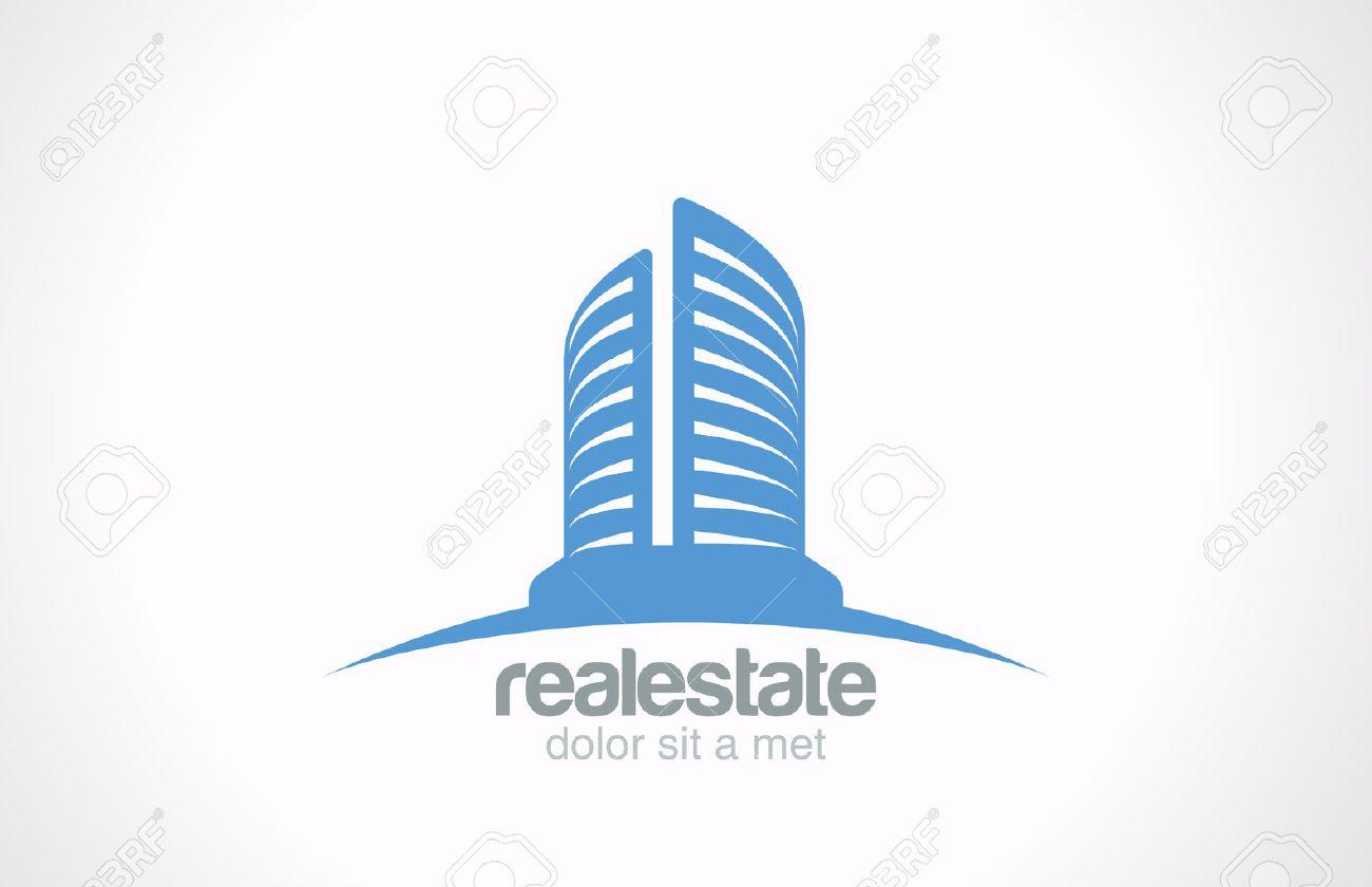 real estate logo vector design template skyscraper business