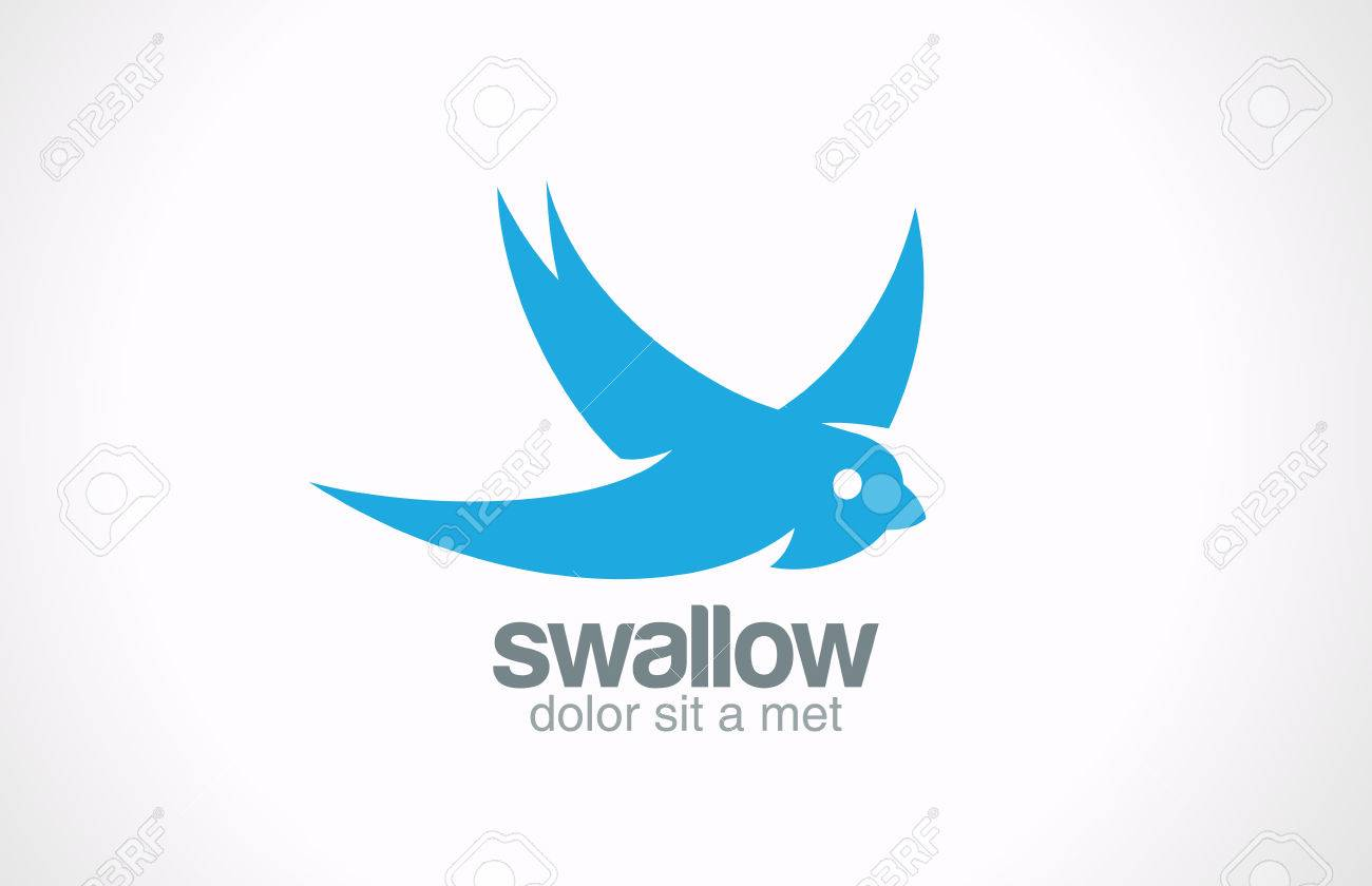 swallow bird abstract vector logo design creative concept symbol royalty free cliparts vectors and stock illustration image 27018850 123rf com