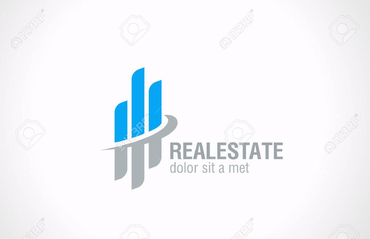 Real Estate vector logo design  Realty abstract symbol Business Corporate sign  Financial Stock Exchange concept Stock Vector - 27018859