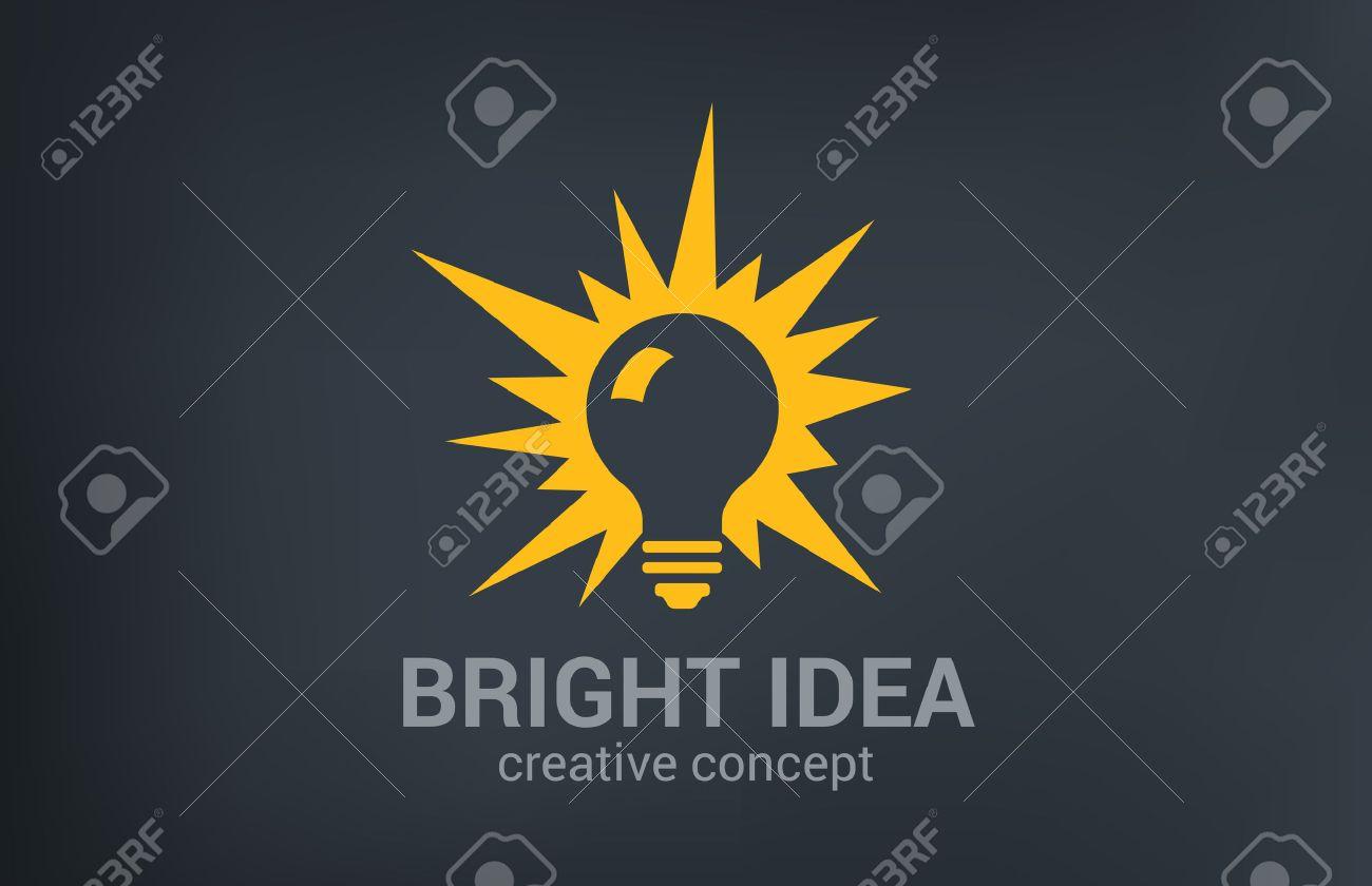 Kreative Helle Neue Idee Vektor-Logo-Design-Vorlage. Glühbirne ...