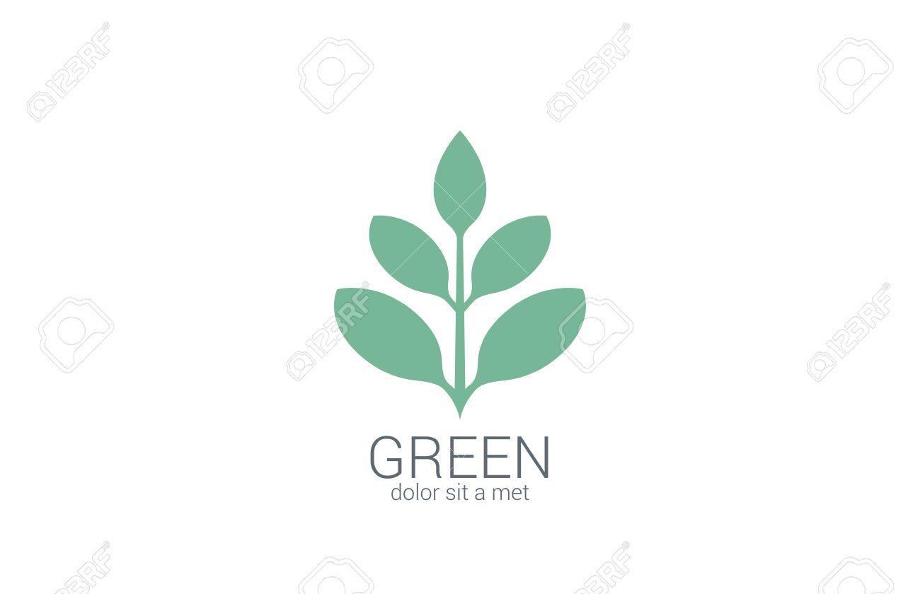 Green Plant Abstract Vector Logo Design Template. Eco Organic ...