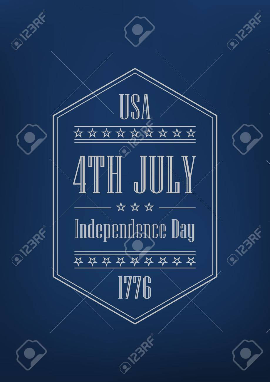 7b6f2851ab737f 4th of July Independence Day of America vector Poster retro design template.  Vintage Label one