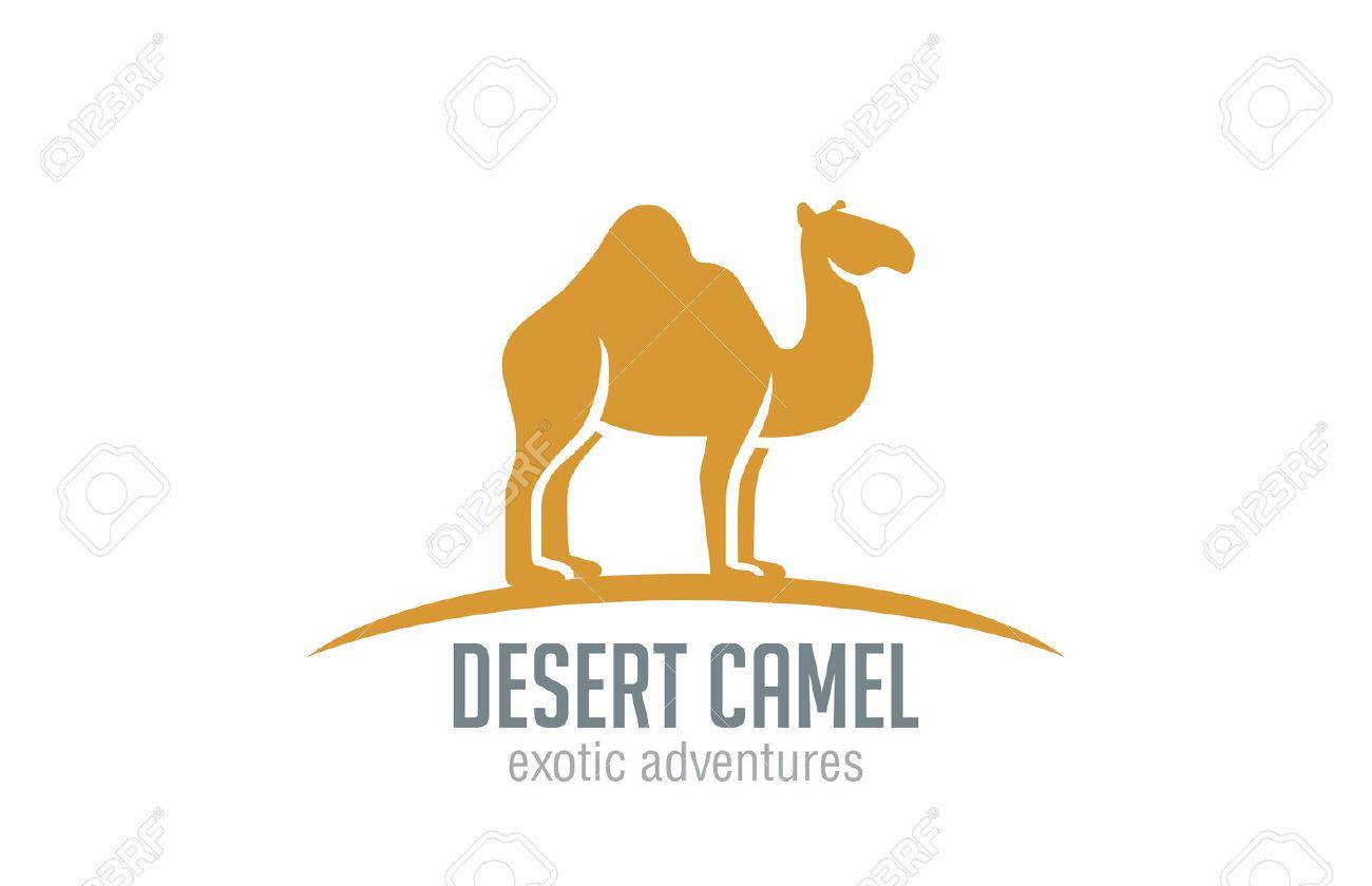 Camel Logo Vector Design Template Silhouette. Desert Travel ...