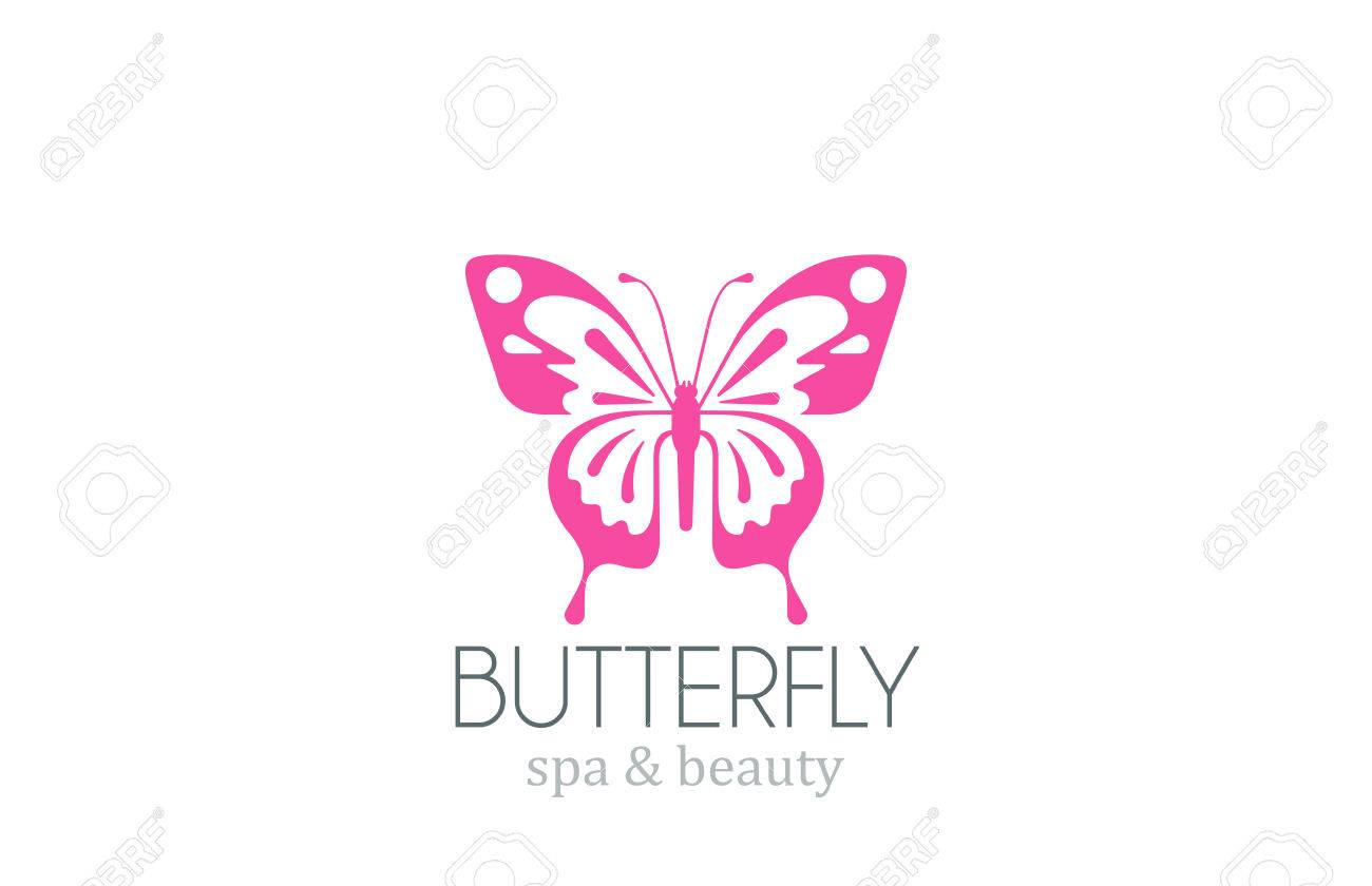 Butterfly Logo Vector Design Template. Spa Beauty Salon Logotype ...