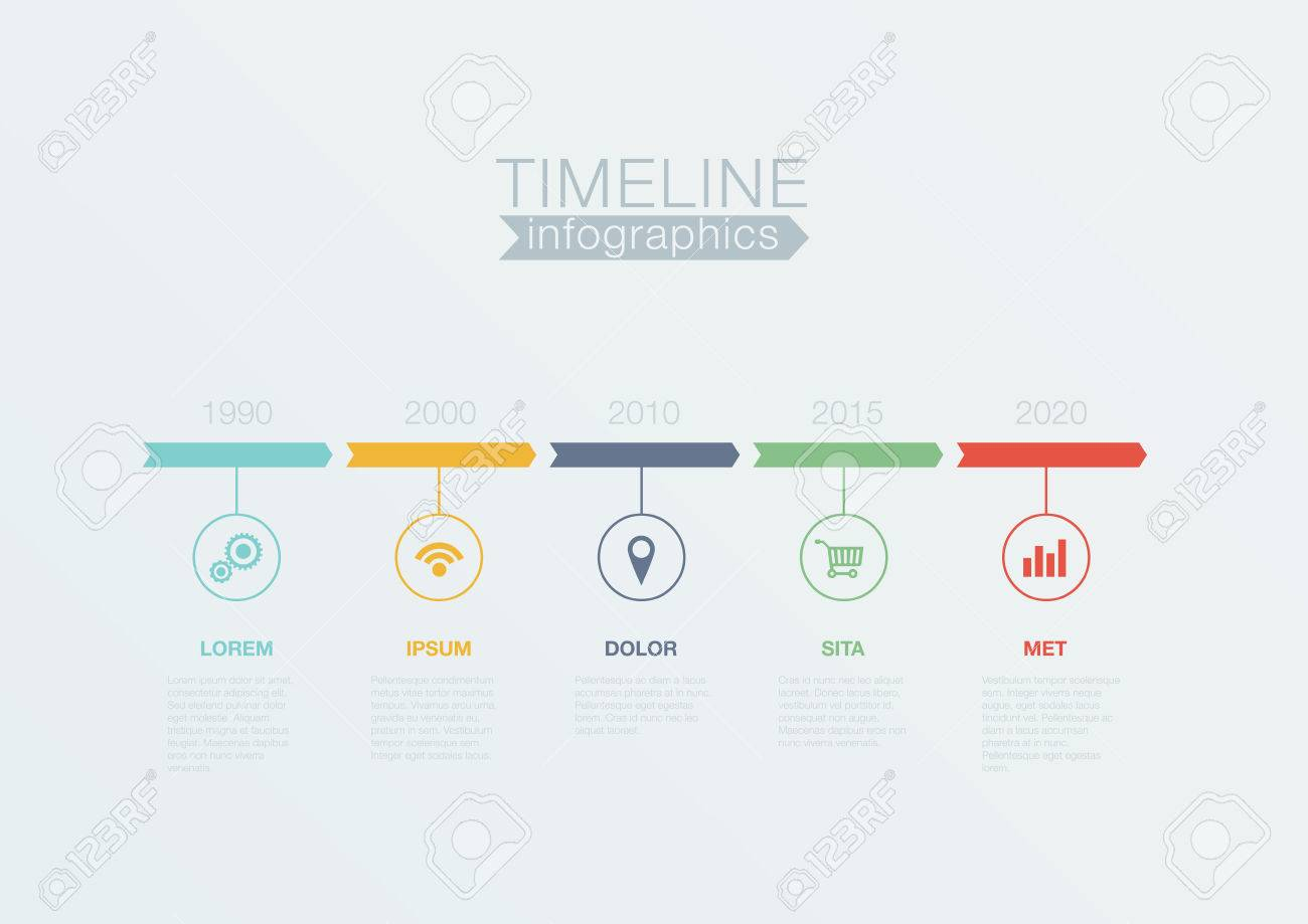 Timeline Infographics Vector Design Template For Business – Timeline Website Template
