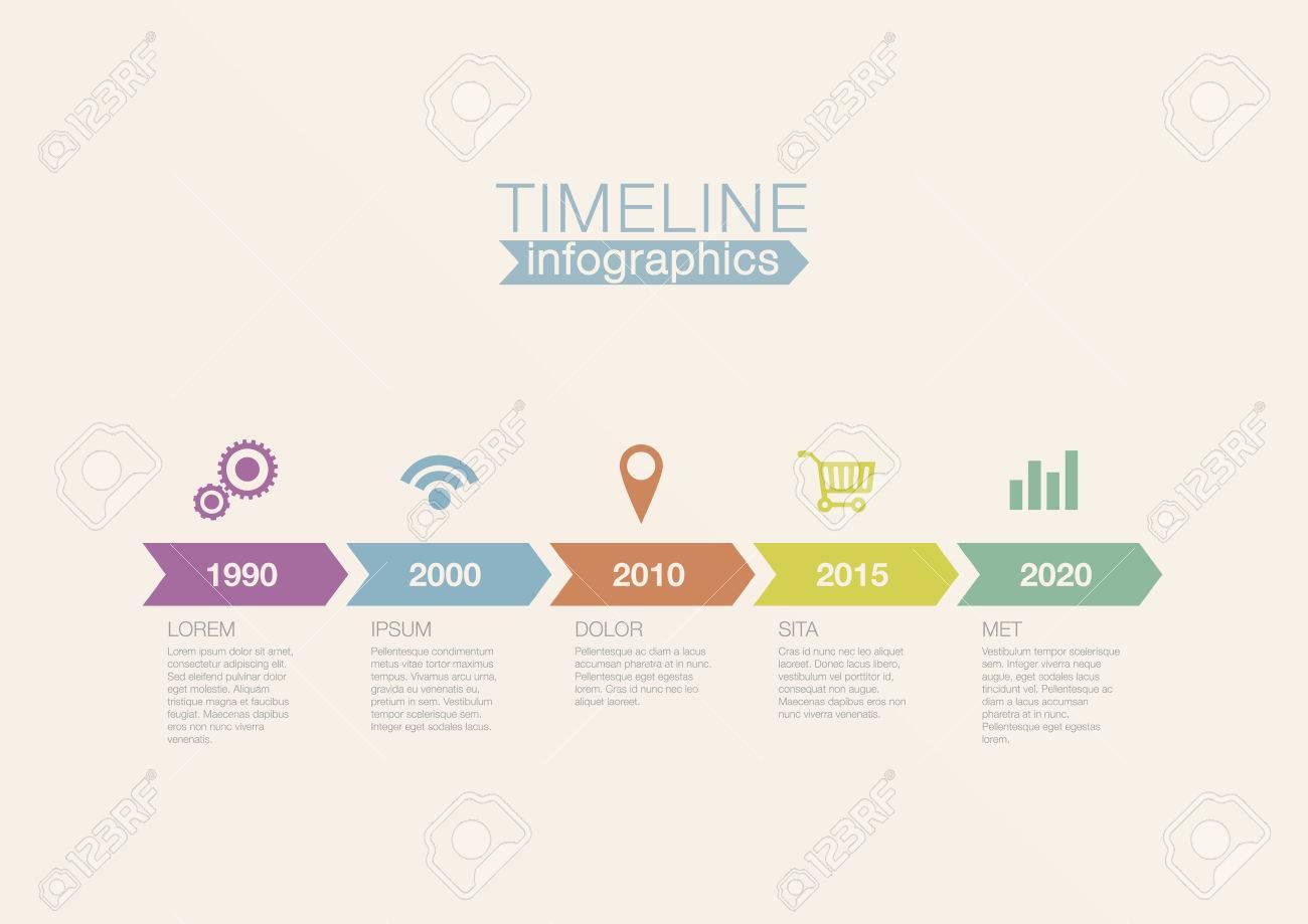Timeline Infografik Vektor-Design-Vorlage Für Finanzberichte ...