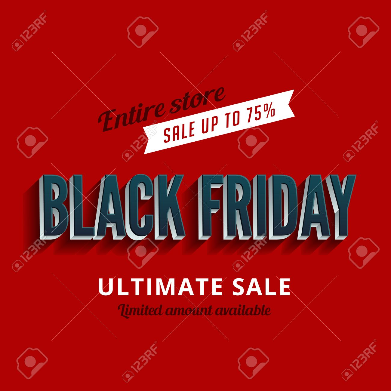 Poster design 3d - Black Friday Sale Poster Design 3d Typography Template Retro Style Stock Vector 33015332