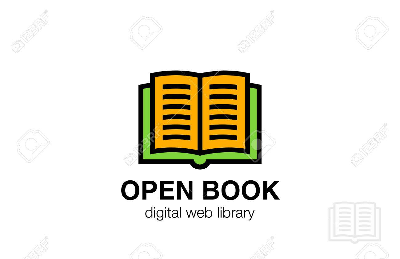Open Book Logo Abstract Design Vector Template Friendly Icon Education