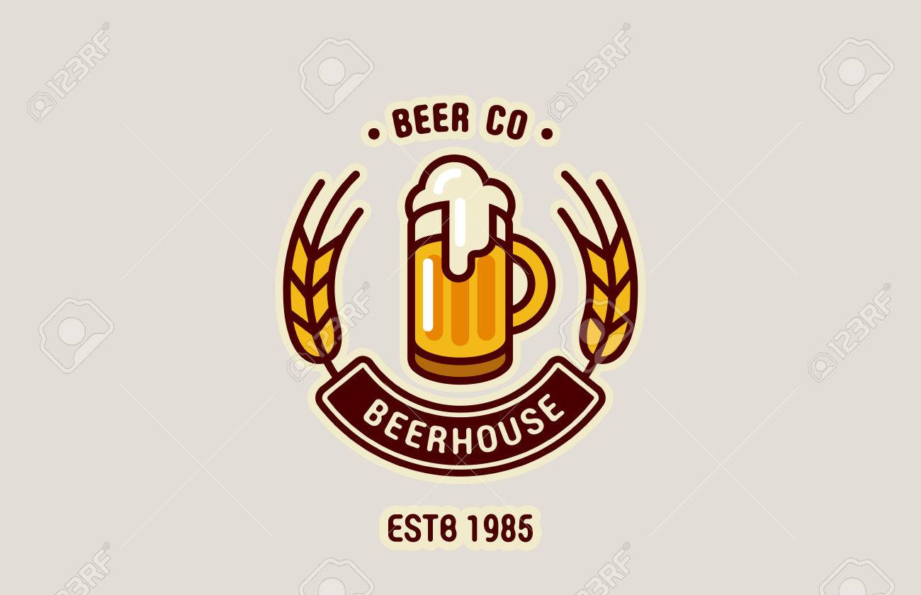 Beer Mug Logo Abstract Design Vintage Vector Template Brewery Royalty Free Cliparts Vectors And Stock Illustration Image 45453242