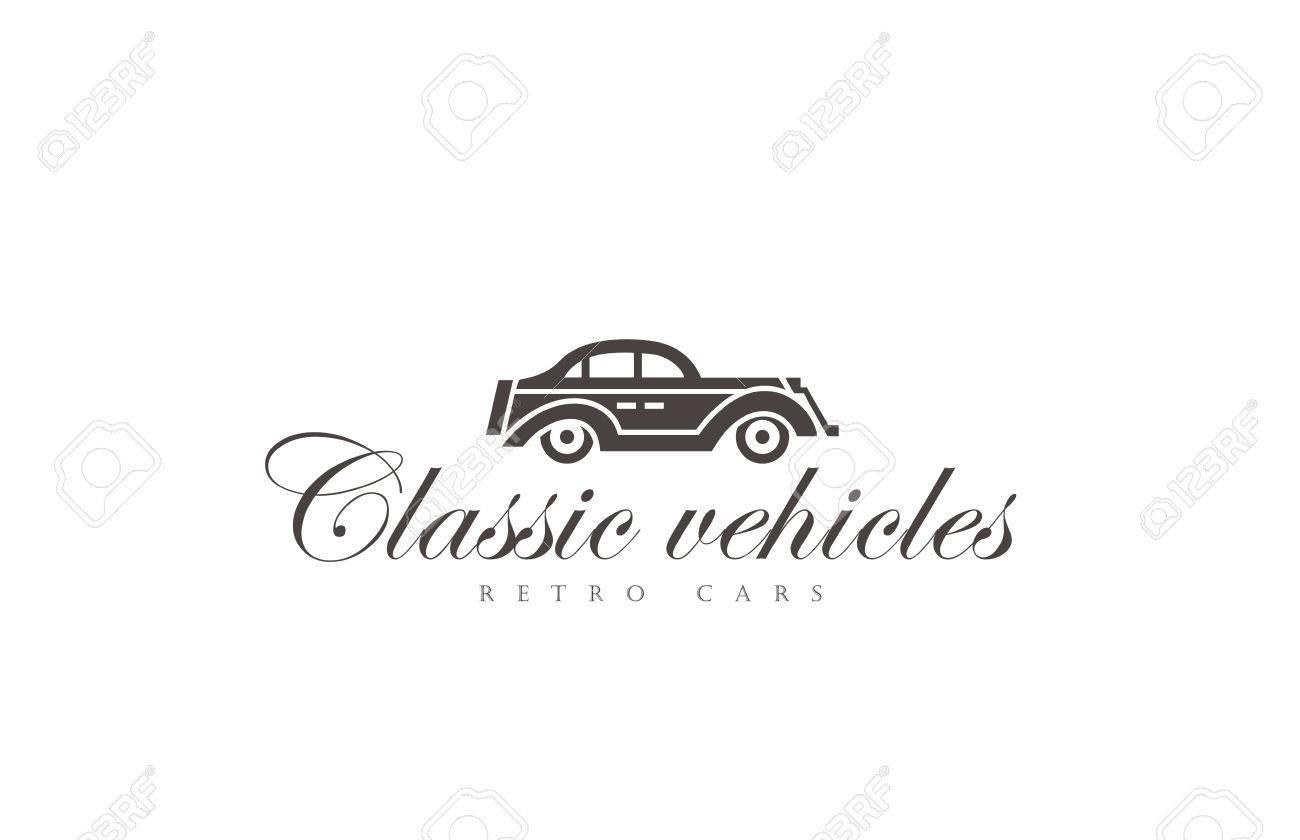 Retro Car Logo Abstract Design Vector Template. Vintage Vehicle ...